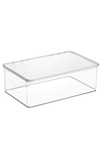 Stackable Box with Hinged Lid