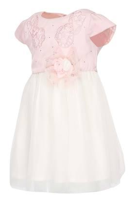 Girls Round Neck Assorted Layered Dress