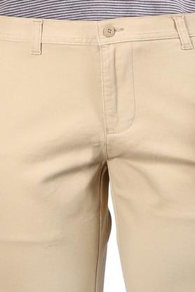 Mens 4 Pocket Solid Chinos