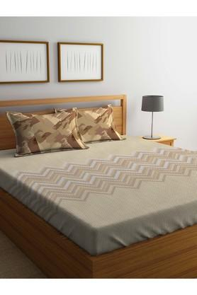PORTICO Printed Double Bed Sheet With Pillow Cover - 203989981_9900