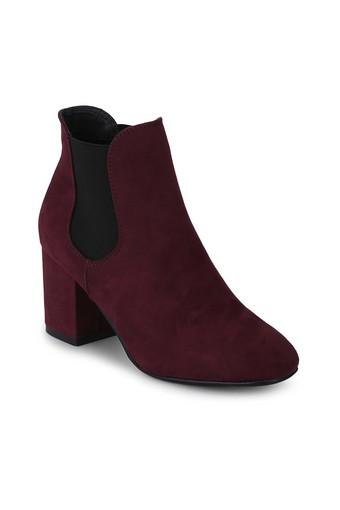 TRUFFLE COLLECTION -  Burgundy Boots - Main