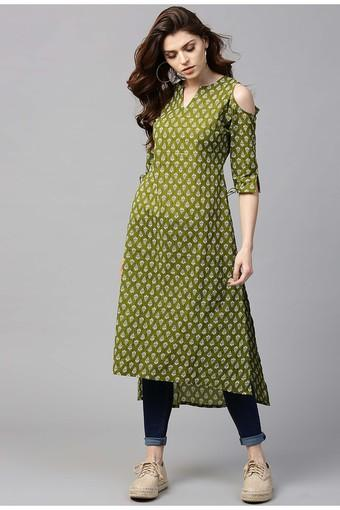 GERUA -  Green Kurtas - Main