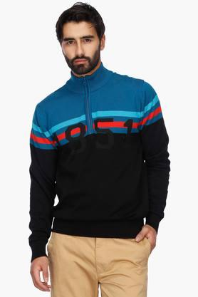 ARROW SPORT Mens Regular Fit High Neck Colour Block Sweatshirt