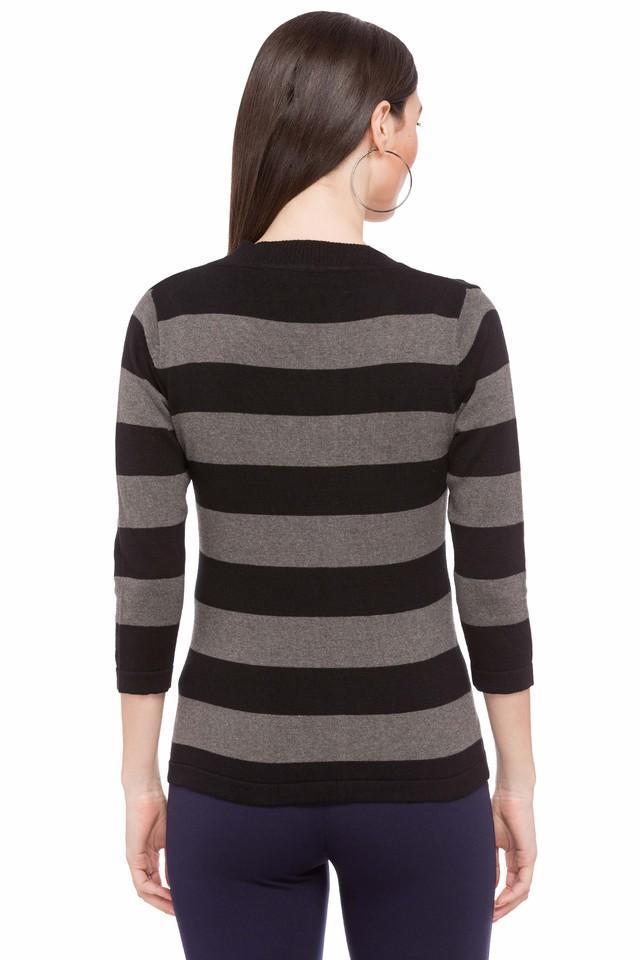 Womens V Neck Stripe Top