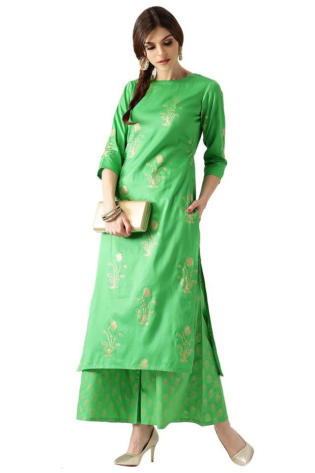Womens Floral Kurta Set