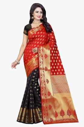 Womens Banarasi Silk Printed Saree