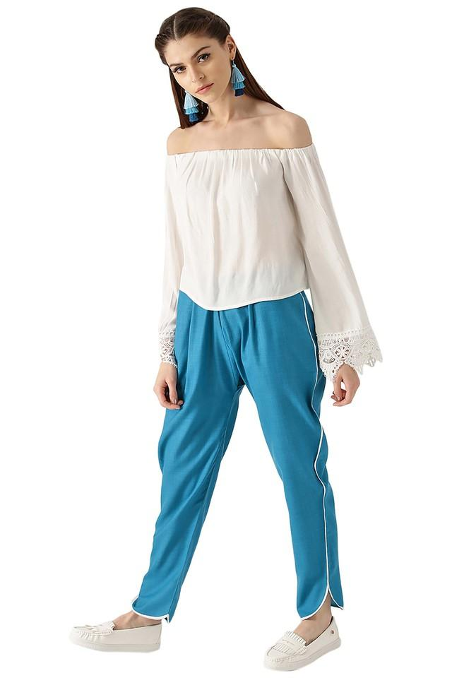 Womens Solid Trouser