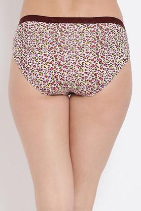 Womens Low Waist Animal Print Bikini Briefs