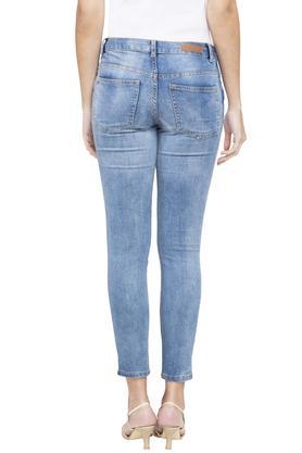 Womens 5 Pocket Slim Fit Heavy Wash Jeans