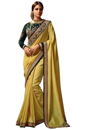 VRITIKAWomens Magic Silk Designer Saree With Blouse - 204061860_9407