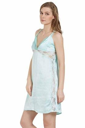Womens Solid Woven Babydoll