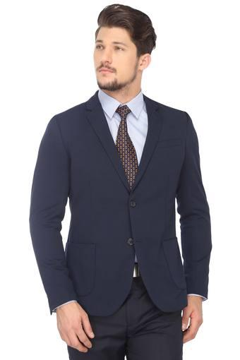 f1b4acddc Buy UNITED COLORS OF BENETTON Mens Notched Lapel Solid Blazer ...