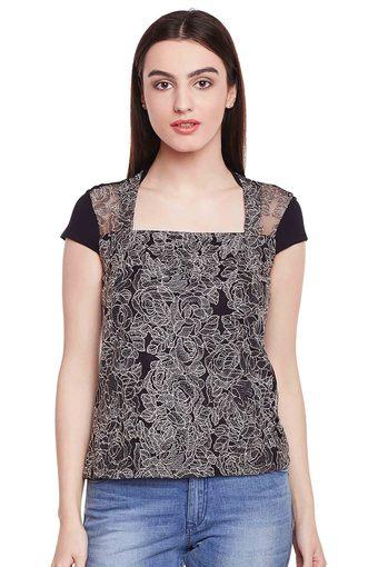 Womens Square Neck Lace Top