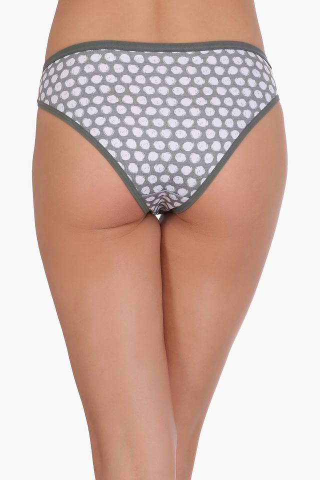 Womens Low Waist Printed Bikini Briefs