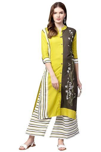 ISHIN -  YellowSalwar & Churidar Suits - Main
