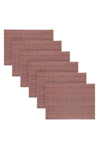 Rectangular Assorted Knitted Table Mat - Set of 6