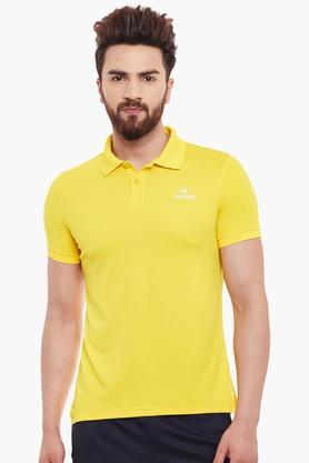 ALCIS Mens Slim Fit Solid Polo T-Shirt