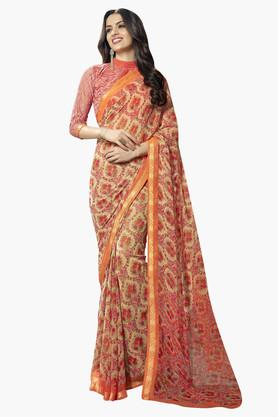 DEMARCA Womens Faux Georgette Printed Saree - 203229637