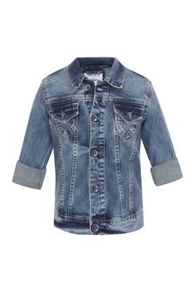 Girls Collared Assorted Jacket