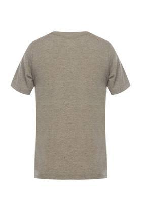 Boys Round Neck Slub T-Shirt