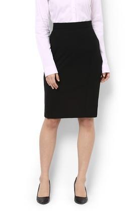 VAN HEUSENWomens Solid Pencil Skirt