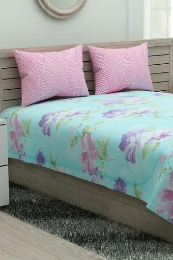 Printed Double Bed Sheet Pillow Cover and Quilt Set