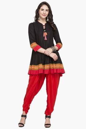 IMARAWomens Tie Up Neck Printed Kurta And Dhoti Set - 203080151