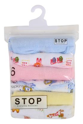 Unisex Printed and Solid Handkerchief - Pack of 6