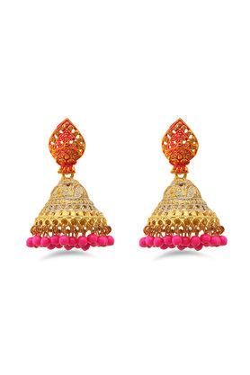 Womens Gold Plated Jhumkas