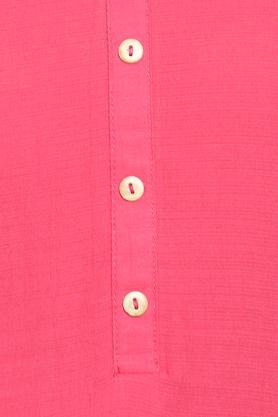 Womens Mandarin Collar Solid Tunic