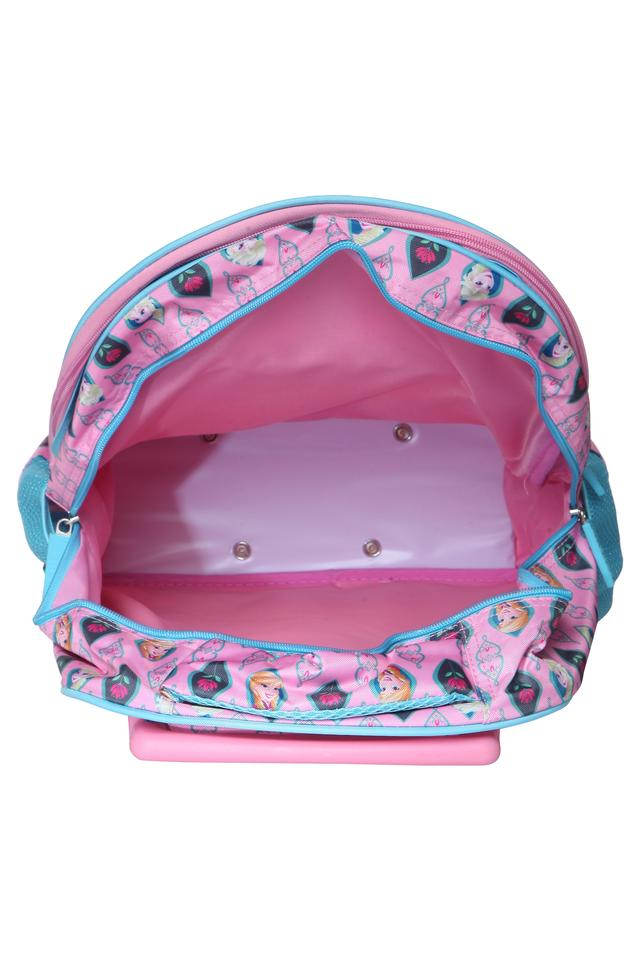Girls Frozen Princess 3 Compartment Zip Closure Trolley Backpack