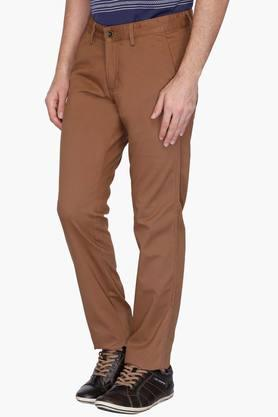 Mens 4 Pocket Solid Chinos