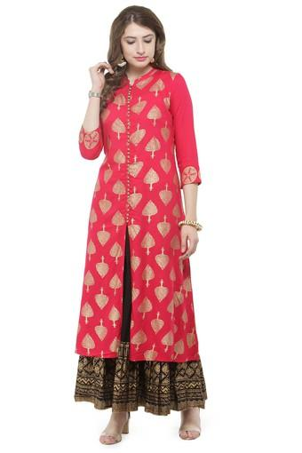 bdb7071e83 Buy VARANGA Women Floral Print Kurta and Skirt Set | Shoppers Stop