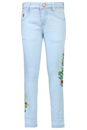 fec9fe47836 X UFO Girls 5 Pocket Embroidered Jeans