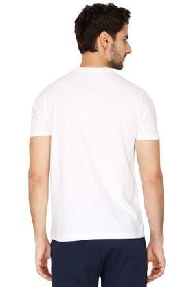 Mens Round Neck Solid T- Shirt