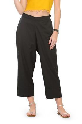Women Solid Flex Rayon Rayon pants