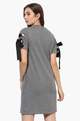 Womens Round Neck Slub Sweat Dress