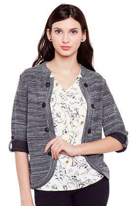 LATIN QUARTERSWomens Textured Woven Cardigan