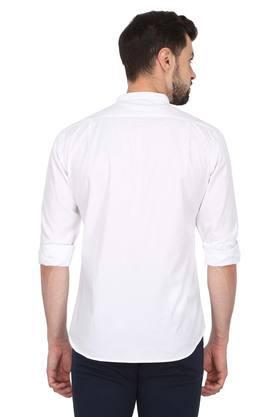 Mens Mao Collar Solid Shirt