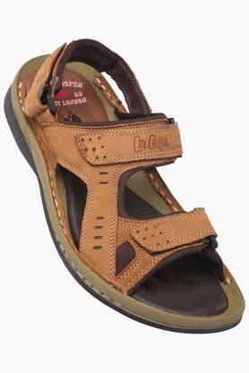 LEE COOPERMens Leather Velcro Closure Sandals - 203231829