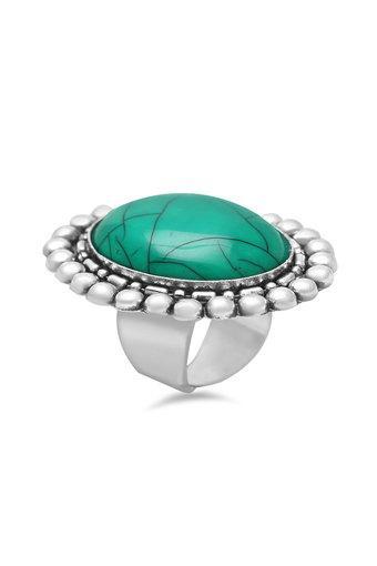 Womens Round Stone Ring