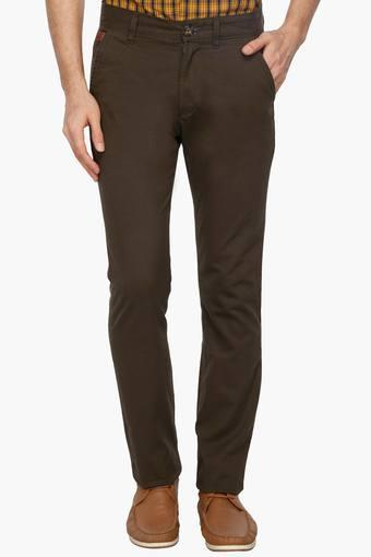 586538b56 Buy WROGN Mens Slim Fit Mid Rise Chinos | Shoppers Stop