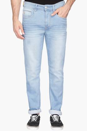 U.S. POLO ASSN. DENIMMens 5 Pocket Heavy Wash Jeans (Delta Fit)