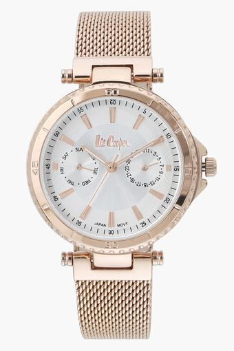 Womens Analogue Off White Dial Metallic Watch - LC06599430