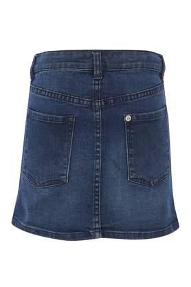 Girls 5 Pocket Embellished Skirt