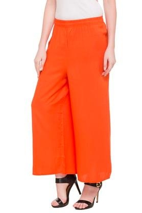 Womens Single Pocket Solid Palazzo Pants