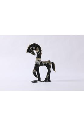 MALHARHandcrafted Big Dancing Horse With Metal Finish Showpiece