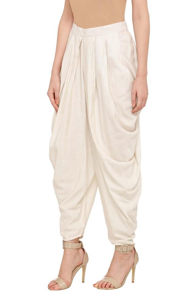 Womens Slub Dhoti Pants