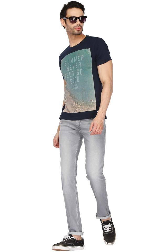 Mens 5 Pocket Heavy Wash Jeans (65504)