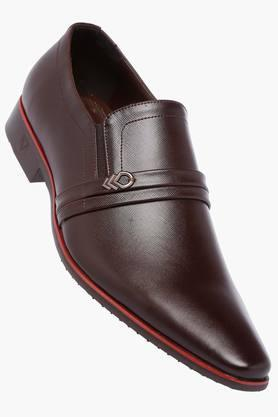 VENTURINI Mens Leather Slipon Loafers - 203018039